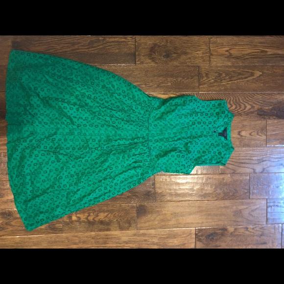 J. Crew Dresses & Skirts - Green eyelet dress